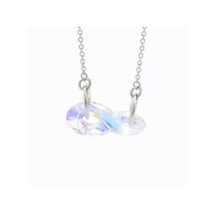 Náhrdelník Nekonečný krystal s kameny Swarovski® Crystal AB