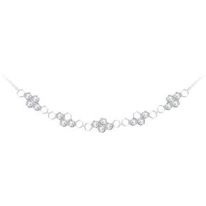 Jemný strieborný náhrdelník Lumina