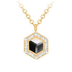 Pozlátený náhrdelník s krištáľom Honeygon