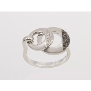 Zlatý briliantový  prsteň