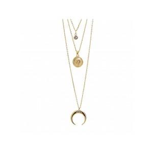 Náhrdelník trojitý s přívěšky Swarovski® Crystals Gold