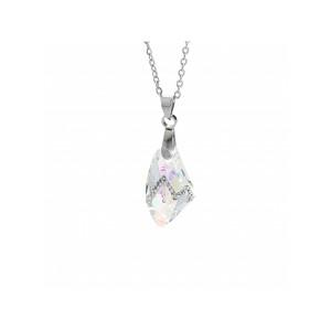 Náhrdelník Krystal s vlnkou kamínků Swarovski® Aurore Boreale Crystal