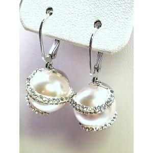 Rodióvaný swarovský náhrdelník s naušnicami