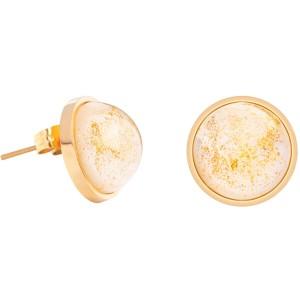 Náušnice so zlatistými krištáľmi Mays