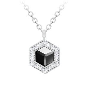Oceľový náhrdelník s krištáľom Honeygon