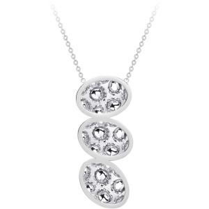 Oceľový náhrdelník s trblietavým príveskom Idared